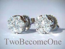 Stud White Gold VS2 Fine Diamond Earrings