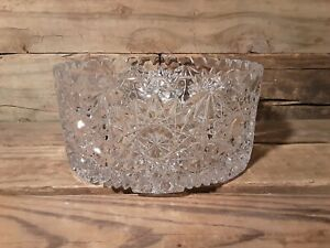 Brilliant Starburst Design Cut Lead Crystal Bowl