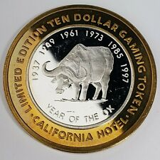 New Listing1995 S California Hotel Casino 999 Silver Strike $10 Year of the Ox Token 0Ch508
