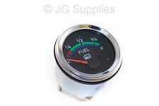 Fuel gauge chrome bezel 52mm smart with LED warning 12v