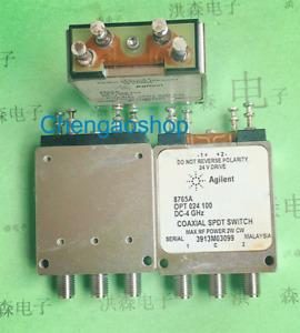 1PC Agilent 8765A DC-4GHz 24V SMA SPDT RF coaxial switch #T70J YS