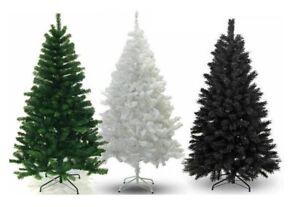 Christmas Tree 5Ft-6Ft-7Ft Black Green Artificial Pine Xmas House Decor Tree