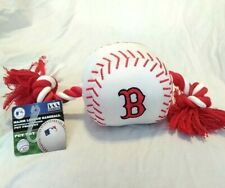 Boston Red Sox Baseball Dog Pet Chew Squeaky Tube Toy Rope New