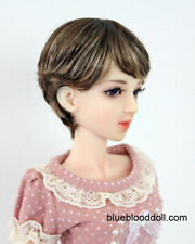 "1/3 1/4 bjd 7-8"" doll head high-light short wig dollfie Luts Iplehouse MSD 28053"