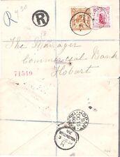 NEW ZEALAND 1904 REGISTERED MAIL TO TASMANIA (F)