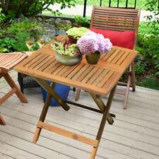 Holz Beistell Tisch Garten Grundstück Bistro Außen geölt braun Möbel Akazie
