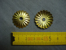 Rosaces en laiton ( lot de 4 ) Ø 24 mm trou de 4 mm rondelles caches (réf E4)