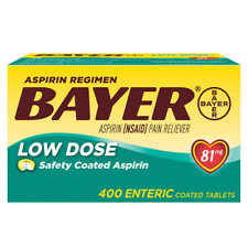 Bayer Low Dose Aspirin 81mg Enteric Coated Tablets - 400 Count - FAST SHIPPING