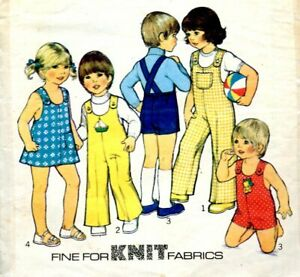 Cut Sewing Pattern Toddler Boys Girls Dungarees Dress Playsuit Size 6 months.