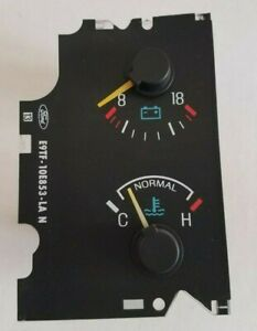 87-91 Ford Truck Bronco Water Temperature Voltage Gauge F150 250 350 Pickup