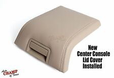 2007 2008 Lincoln Navigator -Center Console Lid Replacement Leather Cover Tan