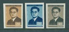 Albania Albanien 1947 Qemal Stafa Issue Sc 391-93 Imperforate