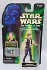 1999 Hasbro Star Wars POTF Han Solo w Blaster Pistol & Holster CommTech Chip