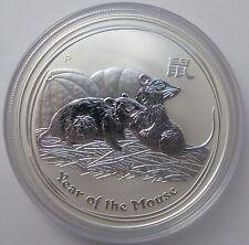 2008 Australian Perth Mint Lunar Year of the Mouse 1oz .999 Silver Bullion Coin