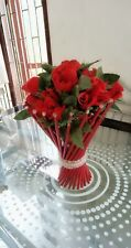 Handmade Flower Vase Red color for Beautiful Home and Living decor