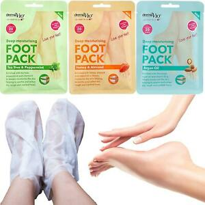 Derma V10 Foot Sock Mask Baby Soft Feet Deep Moisturising Peel Dead Softens Skin