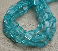 "Apatite Natural Stone Rectangle Bead Strand For Bead Craft  4 x3MM 14"" (1)"