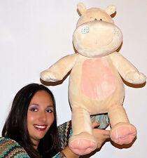 "Jumbo Hippopotamus HIPPO Pink Plush STUFFED 24"" Inches TOY SEWN EYES LOVEY BABY"