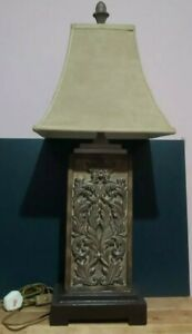 """VINTAGE UTTERMOST TABLE LAMP - RESIN CAST BODY - WOW FACTOR FAB LOOKING 35"""" TALL"""