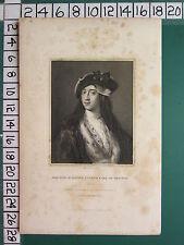 1836 datato antico stampa ~ Horatio WALPOLE quarta Earl of Orford