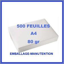 RAME PAPIER 500 FEUILLES ~ A4 80gr ~ RAMETTE IMPRIMANTE ~ LIVRAISON GRATUITE