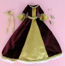 Disney Store Exclusive Cinderella Doll Clothes Rare Burgundy Gown Jewelry Shoes