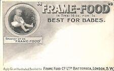 Advertising. Frame-Food, Battersea, London. Best for Babies.