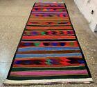 Hand Knotted Vintage Afghan Maimana Surpuri Kilim Kilm Wool Area Runner 12 x 4