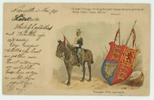 17th Lancers Trooper R. Simkin Early 1901 Art Postcard, B950
