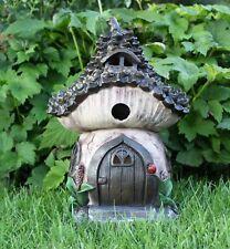 Solar para Jardín Decoración Grande Casa DE HADAS PIXIE Pine Cone Ornamento Al Aire Libre Casa
