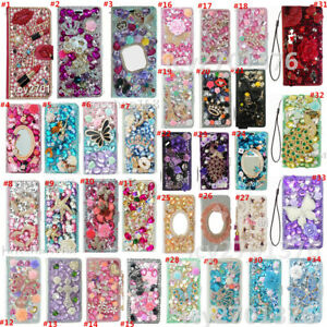 For Motorola MOTO G STYLUS Bling Leather wallet Case skin cover & straps