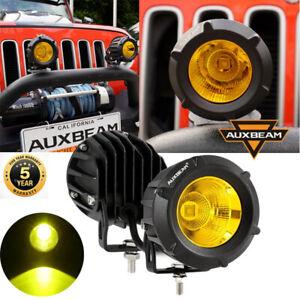 "3.5"" inch LED Work Light Bar Spot Yellow Cube Driving Fog Lamp Universal AUXBEAM"