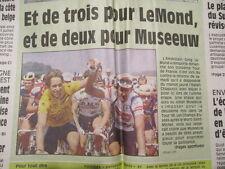 VELO : 3ème VICTOIRE AU TOUR DE FRANCE POUR GREG LEMOND 23/07/1990 + 24H SPA
