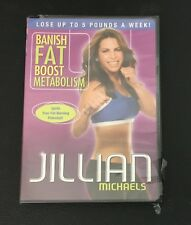 JILLIAN MICHAELS BANISH FAT BOOST METABOLISM DVD New Sealed