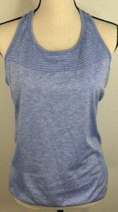 NIKE RUNING Dri Fit Women's  BLUE Tank Top stretch Back Vented, Size L YOGA