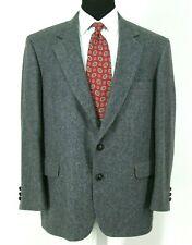 John Alexander Vtg Tweed Blazer 42S Gray Wool Herringbone Check Sport Jacket USA