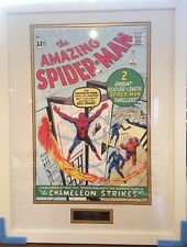 AMAZING SPIDER-MAN STAN LEE AUTOGRAPH HAND SIGNED FRAMED PRESENTATION SUPERB