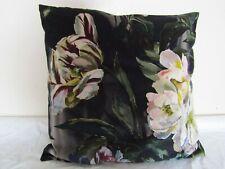 Designers Guild Fabric Delft Velvet Noir Cushion Covers