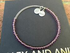 ALEX and ANI Russian SILVER ABALONE COLOR SHIMMERING Sea BEAD BANGLE Bracelet