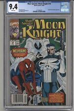 MARC SPECTOR:MOON KNIGHT #15 CGC 9.4, WPGS, SPIDER-MAN & PUNISHER APPR. 1990