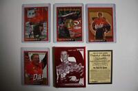 2001 DALE EARNHARDT JR 4-Card Set with 24KT Gold North Carolina State Quarter