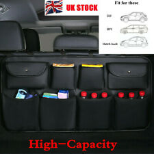 Black PU Leather Multi-use Car Seat Back Organizers Bag Interior Accessories UK