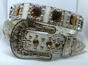 Angel Ranch Womens Amber And Rhinestone Hair-On Belt Style A1101 L