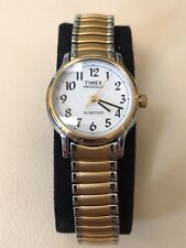 VINTAGE TIMEX LADIES EASY READER WATCH W/TWO TONE EXTRA LONG EXPANSION NWOT