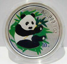 2000 Panda 10 Yuan Coin 1 oz .999 Silver Colorized