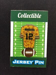Green Bay Packers Aaron Rodgers jersey lapel pin-Classic Cheese