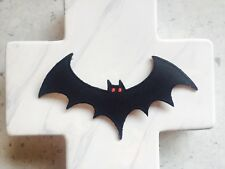 Bat Night Flight Scary Children's Kids Black Embroidered Iron On Patches Patch
