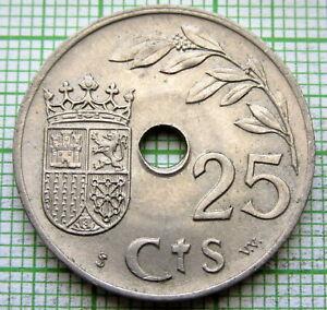 SPAIN 1937 25 Centimos - 2nd Triumphant Year