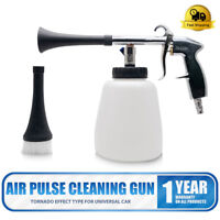 White Tornador Car Surface Cleaning Washing Air Pulse Spray Tool With Brush