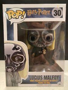 Funko Pop Vinyl Harry Potter Lucius Malfoy Death Eater #30 Vaulted Rare